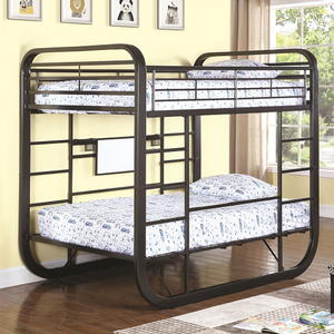 144MBB Full/Full Workstation Loft Bunk Bed  - Finish: Dark Gunmetal<br><br>Available in Twin/Twin Size<br><br>Slat Kit Included<br><br>Dimensions: 81.25