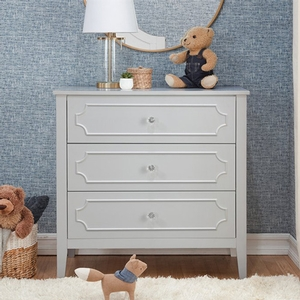 Item # 370CHT - Finish: Fog Grey<br>Available in White.<br>Assembled Dimensions: 33.5 x 18 x 36.625<br>Assembled Weight: 72.8 lbs<br>Drawer Measurements: 28.75L x 15W x 8.375H