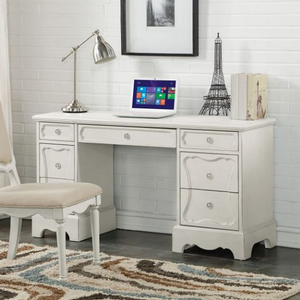 Item # 153D Antique Style Desk - Finish: Antique White<br><br>Chair Sold Separately<br><br>Dimensions: 56