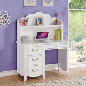 Item # 155D Desk w/ 3 Drawers - Finish: White<br><br>Hutch Sold Separately<br><br>Dimensions: 44