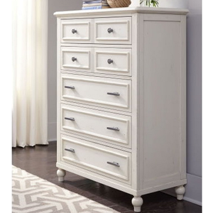 Item # 158CH Chest - Finish: Pebble White<br><br>Dimensions: 38W x 18D x 50H