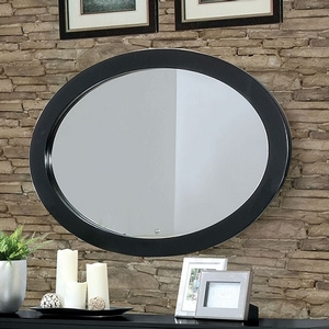 178M Oval Mirror  - Finish: Black<br><br>Available in White<br><br>Available in Rectangular Mirror<br><br>Dimensions: 40