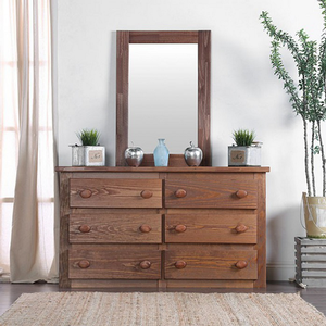 179M Mahogany Mirror - Finish: Mahogany<br><br>Style: Rustic<br><br>**Dresser Sold Separately**<br><br>Dimensions: 27