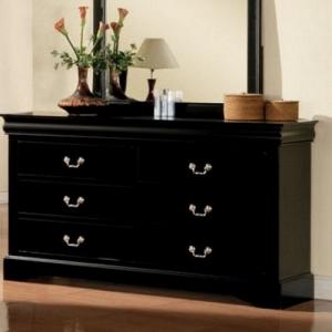 Item # 119DR 6 Drawer Dresser - Finish: Black<br><br>Mirror Sold Separately<br><br>Dimensions: 60
