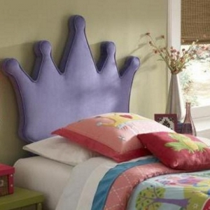 131HB Princess Crown Twin Size Headboard - Dimensions: 48 1/4