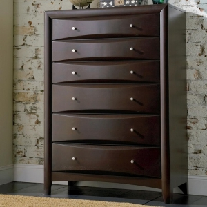 Item # 061CH 6 Drawer Chest - Finish: Cappuccino<br><br>Dimensions: 37.75W x 16.75W x 50.50H