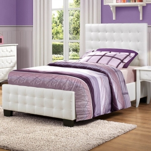 0118T Tufted Twin Bed - Tufted Headboard<br><br>