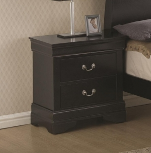 Item # 009NS 2 Drawer Night Stand - Matching case pieces have dovetail joinery with kenlin glides for a smooth and solid drawer foundation<br><br>Versatile for youth and adult bedroom<br><br>