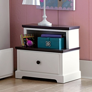 Item # 010NS Step Nightstand - Step styled nightstand features dark espresso hardware and case tops.<br><br>