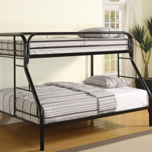 011MBB Twin/Full w/Side Ladders - Twin/Full bunk bed with full length guard rails built in ladder for safety <BR><BR>