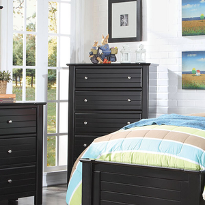 Item # 234CH 5 Drawer Chest in Black - Finish: Black<br><br>Dimensions: 38