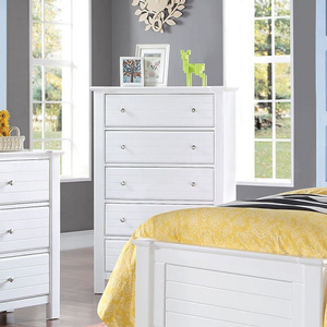 Item # 236CH 5 Drawer Chest - Finish: White<br><br>Available in Black<br><br>Dimensions: 38