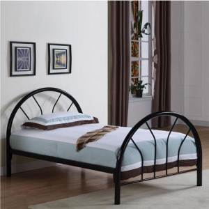 Item # A0022MB - Twin Size Bed<br>Finish: Black, Blue, Red, Pink, Or White Dimensions: 78.50