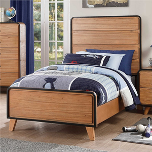 242T Twin Bed  - Finish: Oak w/ Black Trim<br><br>Available in Full Size<br><br>Box Spring Not Required<br><br>Dimensions: 77