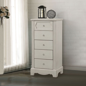 Item # 251CH 5 Drawer Chest - Finish: Antique White<br><br>Available in Antique Teal<br><br>Dimensions: 24