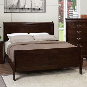 260HB Full Headboard - Finish: Cappuccino<br><br>Dimensions: 56.25