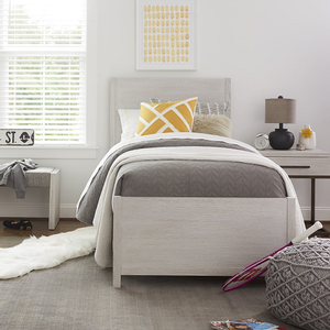262T Twin Bed - Finish: Sea Salt<br><br>Available in Full Size & Queen Size<br><br>Dimensions: 42W x 80D x 50H