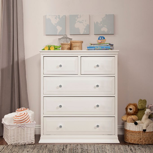 037CH 5 Drawer Chest in White - Finish: White<br><br>Available in Slate & Dark Java<br><br>Dimensions: 35.5