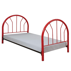 266HB Red Metal Headboard & Footboard - Finish: Red<br><br>Available in Black, White & Blue<br><br>Dimensions: 42