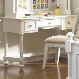 005D Desk - 2 drawers and a center drawer area with a drop down front to access a keyboard<br><br>A lift lid to hold an ipad or textbook<br><br>Desk also offers an outlet and has cord access<br><Br>
