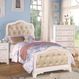 0040T Penny Tufted Headboard Twin Bed