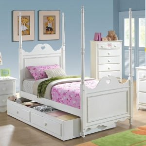 0237T Twin Bed - Trundle Sold Separately<br><br>*Decorative Carving<br><br>Decorative Hardware<br><br>Decorative Accent