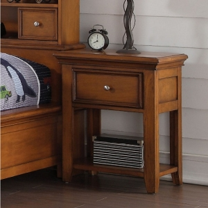 Kaylen Collection Nightstand w/ 1 Drawer - 1 Drawer<br><br>Chambered Drawer Fronts & Trim<br><br>Metal Knobs for a Modern Look<br><br>Center Wooden Glide Drawer<br><br>English Dovetail<br><br>Tapered Legs<br><br>