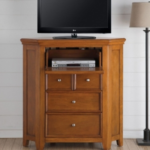 Kaylen Collection 5 Drawer Corner TV Console - 5 Drawers<br><br>Chambered Drawer Fronts & Trim<br><br>Metal Knobs<br><br>