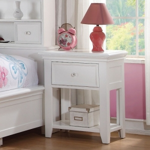 Kaylen Collection 1 Drawer Nightstand - Center Wooden Glide Drawer<br><br>English Dovetail<br><br>Tapered Legs<br><br>