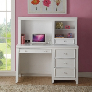 Item # A0057M - Finish: White<br><br>Hutch Sold Separately<br><br>Dimensions: 52