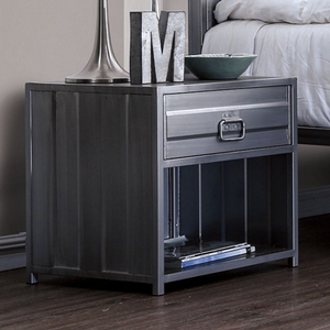 Item # A0374NS - Finish: Hand-brushed silver<br><br>Dimensions: 19 7/8