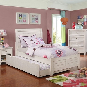 265T Twin Bed - Style Transitional<br> Color/Finish Antique White<br> Material Solid wood, others, wood veneers<br> Product Dimension<br> Full Bed 80 3/8