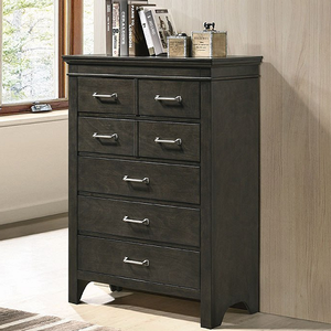 Item # 324CH 7 Drawer Chest - Finish: Bark Wood<br><br>kenlin center drawer glides<br><br>antique nickel knobs<br><br>dimensions: 35.50W x 15.75D x 48H