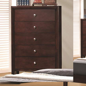 338CH 5 Drawer Chest - Finish: Rich Merlot<br><br>Dimensions: 31.50W x 16.50D x 47.25H