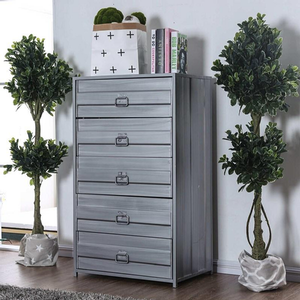 Item # 368CH Tall Chest - Finish: Hand-Brushed Silver<br><br>Dimensions: