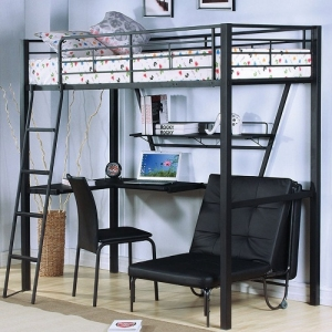 MLB011 Twin Loft Bed With Desk