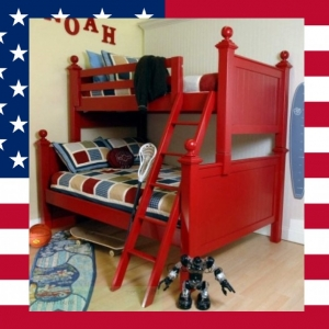 Item # US0012 4 Post twin over twin bunk bed - Made in USA<br><br>Durable & Super Strong<br><br>Available in 33 Different Color<br><br>Modifications Available<br><br>Made to order<br><br>Available in Twin, Full, Queen Sizes