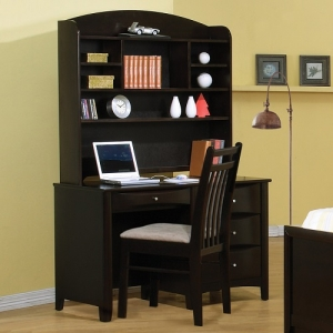 Item # A0004D - Finish: Cappuccino<br><br>Hutch & Chair Sold Separately<br><br>Dimensions: 49