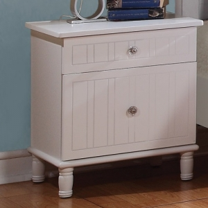 059NS Cottage Style Night Stand w/ Crystal Knobs - Drawers come with English dovetails and crystal knobs<br><br>