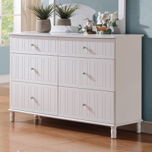 Item # 077DR Cottage Style Night Stand W/ Crystal Knobs - Drawers come with English dovetails and crystal
