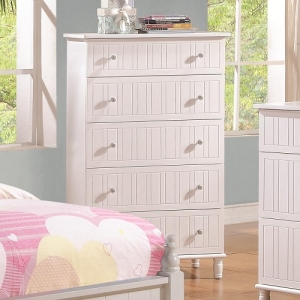 027CH 5 Drawer Chest w/ Crystal Knobs