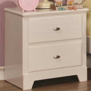 112NS Night Stand w/ 2 Drawers - Matching case pieces have a dovetail joinery with kenlin glides for a smooth and solid drawer foundation<br><br>metal finish knobs accent drawer fronts<br><br>