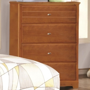 083CH 4 Drawer Chest - Matching case pieces have dovetail joinery with kenlin glides for a smooth and solid drawer foundation<br><br>Metal finish knobs accent drawer fronts<br><br>