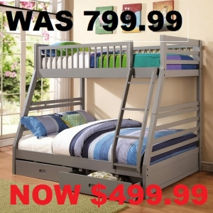 #2000 Twin over full bunk bed in 4 differrent colors - ON SALE!! FOR ONLY 499.99<BR><BR>