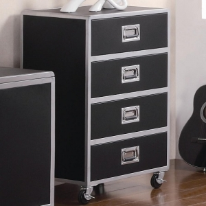 076CH 4 Drawer Chest with Casters