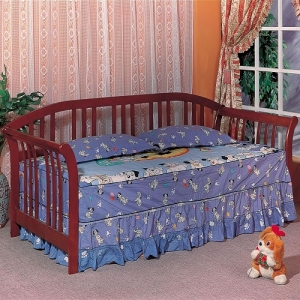 059DB Transitional Twin Daybed - Merlot finish twin daybed <br><br>Frame design has open slats<br><br>Link spring required<br><Br>