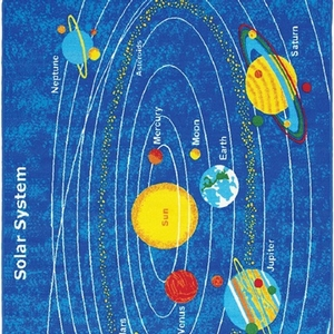 Item # 01 Solar System Rug - Color/Finish Solar System<br> Material Nylon<br> Product Dimension 5'X7'