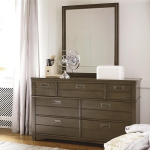 190DR 6 Drawer Dresser - Hidden storage<br><br>Removable drawer partitions<br><Br>Drop front drawer<br><Br>Hidden jewelry storage<br><Br>Self-closing drawers<br><Br>
