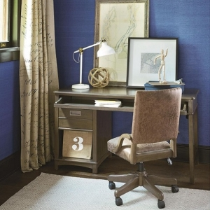 Item # 011CHR Swivel Desk Chair - Decorative nail head trim<br><Br>Bonded leather<br><Br>