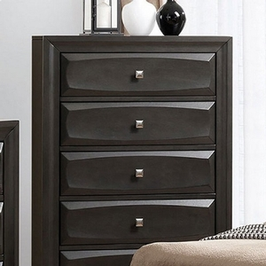 Item # 316CH Gray Chest - Style Transitional<br> Color/Finish Gray<br> Material Solid wood, wood veneer, others<br> Hardware Nickel square knob<br> Product Dimension<br> Chest 31 1/2